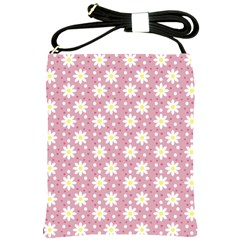 Daisy Dots Pink Shoulder Sling Bags