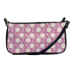 Daisy Dots Pink Shoulder Clutch Bags