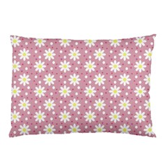Daisy Dots Pink Pillow Case (two Sides)