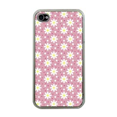 Daisy Dots Pink Apple Iphone 4 Case (clear)