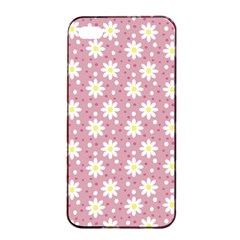 Daisy Dots Pink Apple Iphone 4/4s Seamless Case (black)