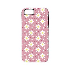 Daisy Dots Pink Apple Iphone 5 Classic Hardshell Case (pc+silicone)