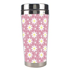 Daisy Dots Pink Stainless Steel Travel Tumblers