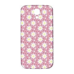 Daisy Dots Pink Samsung Galaxy S4 I9500/i9505  Hardshell Back Case