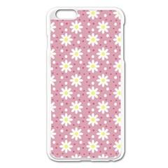 Daisy Dots Pink Apple Iphone 6 Plus/6s Plus Enamel White Case