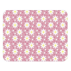 Daisy Dots Pink Double Sided Flano Blanket (large)