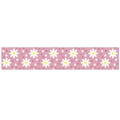 Daisy Dots Pink Large Flano Scarf