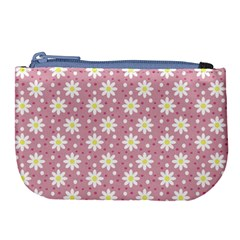 Daisy Dots Pink Large Coin Purse
