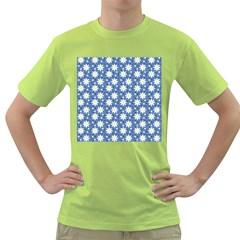 Daisy Dots Blue Green T Shirt