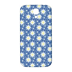Daisy Dots Blue Samsung Galaxy S4 I9500/i9505  Hardshell Back Case