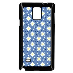 Daisy Dots Blue Samsung Galaxy Note 4 Case (black)