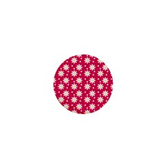 Daisy Dots Light Red 1  Mini Buttons