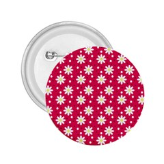 Daisy Dots Light Red 2 25  Buttons