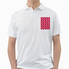 Daisy Dots Light Red Golf Shirts