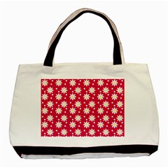Daisy Dots Light Red Basic Tote Bag