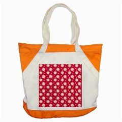 Daisy Dots Light Red Accent Tote Bag