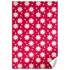 Daisy Dots Light Red Canvas 20  X 30