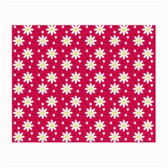 Daisy Dots Light Red Small Glasses Cloth (2 Side)