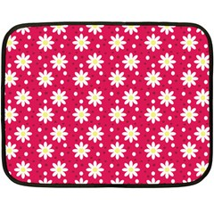Daisy Dots Light Red Fleece Blanket (mini)