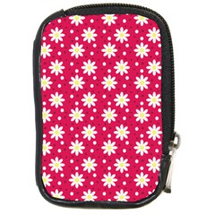 Daisy Dots Light Red Compact Camera Cases