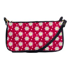 Daisy Dots Light Red Shoulder Clutch Bags