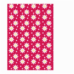 Daisy Dots Light Red Small Garden Flag (two Sides)