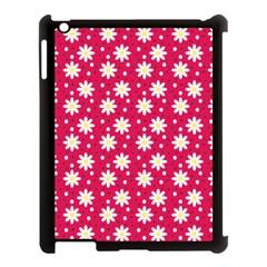 Daisy Dots Light Red Apple Ipad 3/4 Case (black)