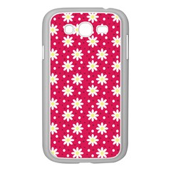 Daisy Dots Light Red Samsung Galaxy Grand Duos I9082 Case (white)