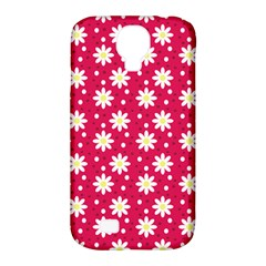 Daisy Dots Light Red Samsung Galaxy S4 Classic Hardshell Case (pc+silicone)
