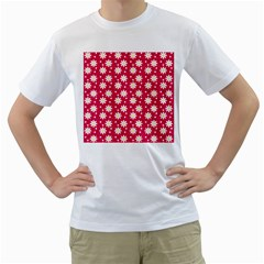 Daisy Dots Light Red Men s T Shirt (white)