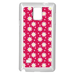 Daisy Dots Light Red Samsung Galaxy Note 4 Case (white)