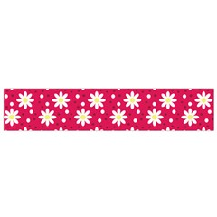 Daisy Dots Light Red Small Flano Scarf