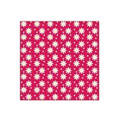 Daisy Dots Light Red Satin Bandana Scarf