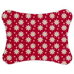 Daisy Dots Light Red Jigsaw Puzzle Photo Stand (bow)
