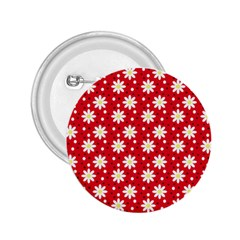 Daisy Dots Red 2 25  Buttons