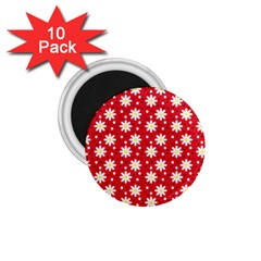 Daisy Dots Red 1 75  Magnets (10 Pack)