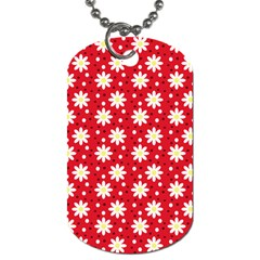 Daisy Dots Red Dog Tag (two Sides)