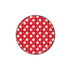 Daisy Dots Red Hat Clip Ball Marker
