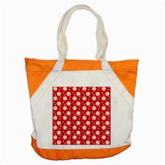 Daisy Dots Red Accent Tote Bag