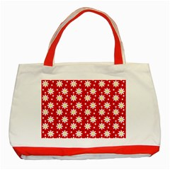 Daisy Dots Red Classic Tote Bag (red)