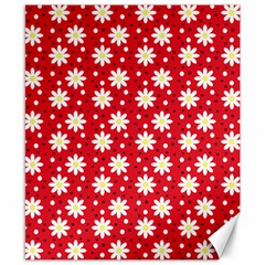 Daisy Dots Red Canvas 8  X 10