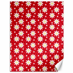 Daisy Dots Red Canvas 36  X 48