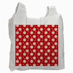 Daisy Dots Red Recycle Bag (two Side)