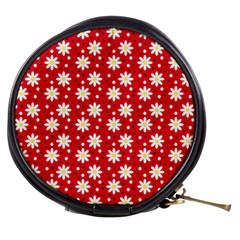 Daisy Dots Red Mini Makeup Bags