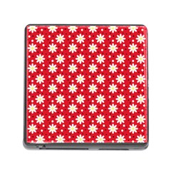 Daisy Dots Red Memory Card Reader (square)