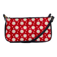 Daisy Dots Red Shoulder Clutch Bags