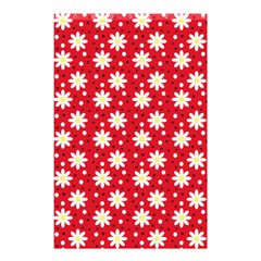 Daisy Dots Red Shower Curtain 48  X 72  (small)