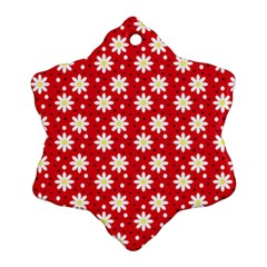 Daisy Dots Red Ornament (snowflake)