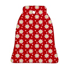 Daisy Dots Red Ornament (bell)