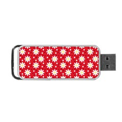 Daisy Dots Red Portable Usb Flash (one Side)